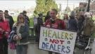 Raided dispensary holds rally outside Legislature