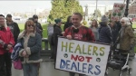 Raided dispensary holds rally outside Legislature
