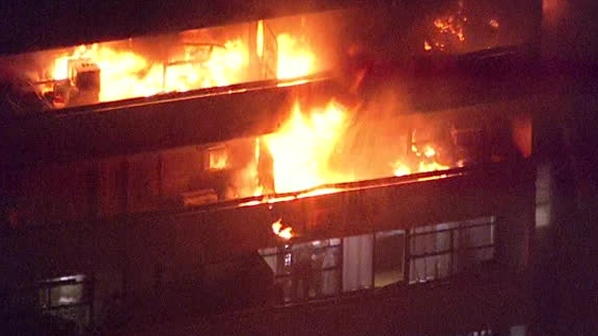 Flames rip through apartments on several floors of North York highrise