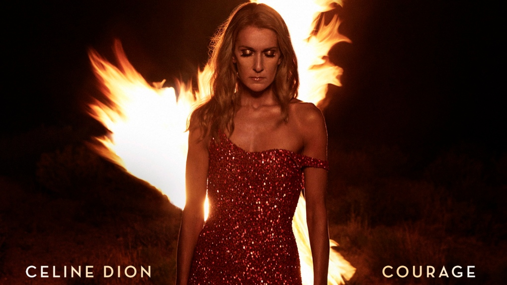 "Celine Dion's new album ""Courage"""
