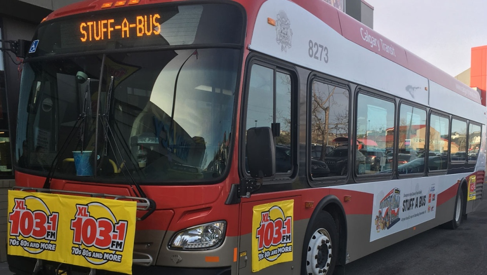 Last year's Stuff-a-Bus event raised over $49,000 and gathered more than 73,000 pounds of food for the Calgary Food Bank.