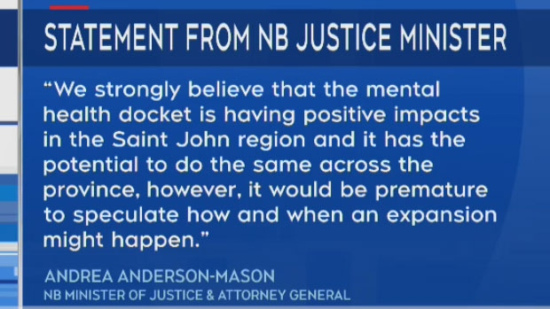 New Brunswick's Minister of Justice and Attorney General Andrea Anderson-Mason sent the following statement to CTV Atlantic.