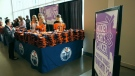 Hockey Fights Cancer fundraiser, Oilers