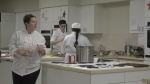 Whisking together new recipes and learning from a red seal chef is an experience currently offered at seven Vancouver high schools that are equipped with teaching cafeterias. (CTV)
