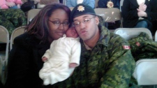 Shanna and Lionel Desmond hold their daughter Aaliyah in a photo from the Facebook page of Shanna Desmond. (THE CANADIAN PRESS / HO - Facebook)