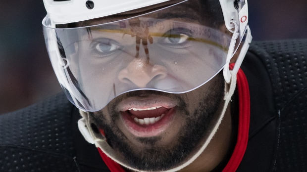 New Jersey Devils' P.K. Subban continues to be a fan favourite in Montreal even if some Saturday night booed the former Norris Trophy winner. THE CANADIAN PRESS/Darryl Dyck