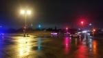 Winnipeg police on scene at the intersection of Chief Peguis Trail and Gateway Road in Winnipeg on Nov. 16, 2019. (Source: Daniel Timmerman/CTV News Winnipeg)