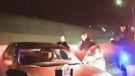 Drunk driver nearly collides with police