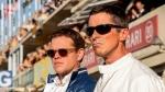 "This image released by 20th Century Fox shows Christian Bale, right, and Matt Damon in a scene from the film, ""Ford v. Ferrari."" (Merrick Morton/20th Century Fox via AP)"