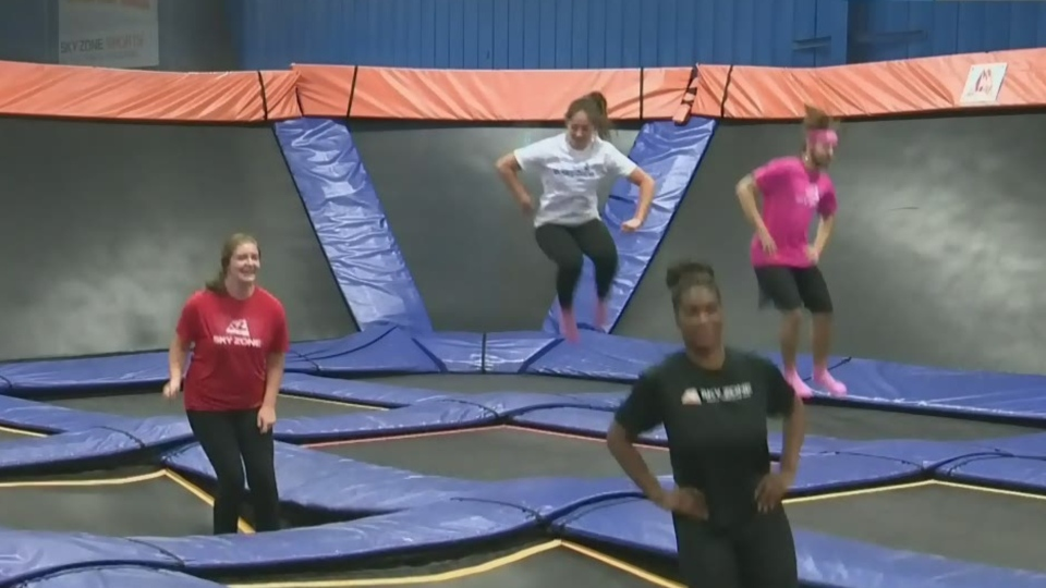 People jumping at Sky Zone Winnipeg. (File image/ CTV News Winnipeg)