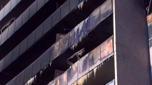 A five-alarm fire at this North York Apartment building has left roughly 700 tenants displaced. (CTV News Toronto)