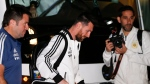 Argentinian superstar Lionel Messi arrives at the team's hotel in Tel Aviv, Israel, Sunday, Nov. 17, 2019, day ahead of a friendly soccer match against Uruguay. (AP Photo/Ariel Schalit)