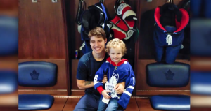 Mitch Marner and Hayden Foulon are seen in this Maple Leafs video posted on Twitter.