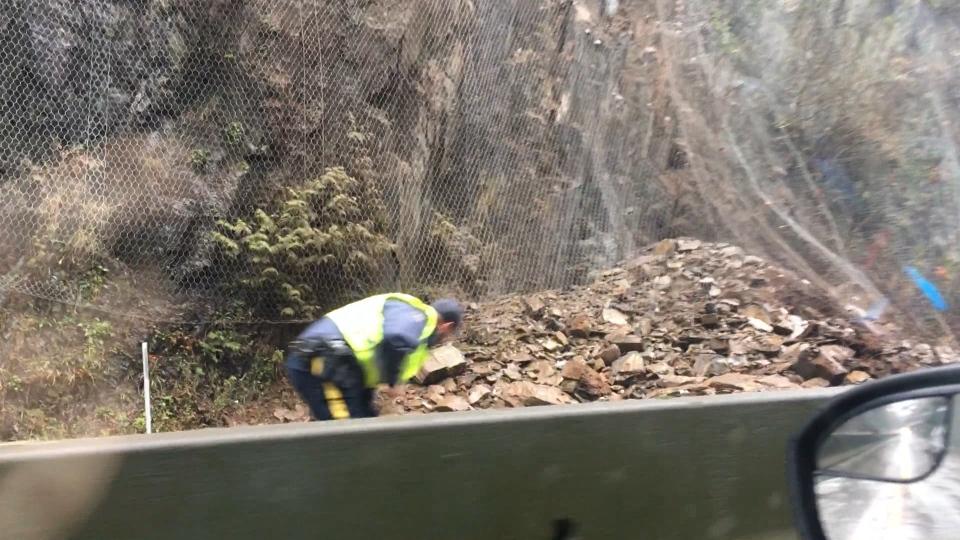 Rockslide Malahat