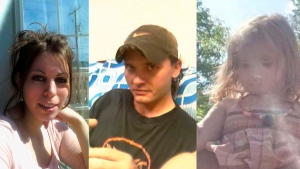 (Left to right) Jennifer Mcleod, BobbiJoe Lindsay, and their daughter Kinza have been identified by close family members as the victims of a fatal fire in Plumas, Man. (Supplied)