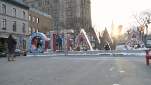 Ottawa's sign started coming down on Monday, November 18.