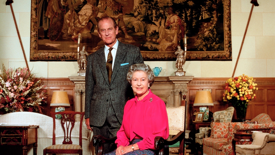 Queen Elizabeth II and Prince Philip, 1992, photographed by Terry O'Neill. (Terry O'Neill/Iconic Images)