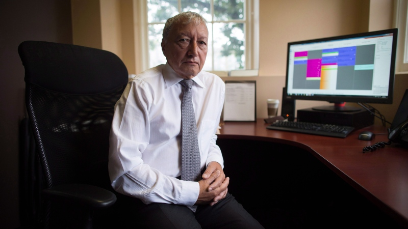 Dr. Brian Day, Medical Director of the Cambie Surgery Centre, sits for a photograph at his office in Vancouver on August 31, 2016. (The Canadian Press/Darryl Dyck)