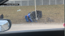 One person was killed and a second person injured in a crash on Deerfoot Trail near 130 Avenue on Nov. 17, 2019. (Courtesy: Ron Tarrant)