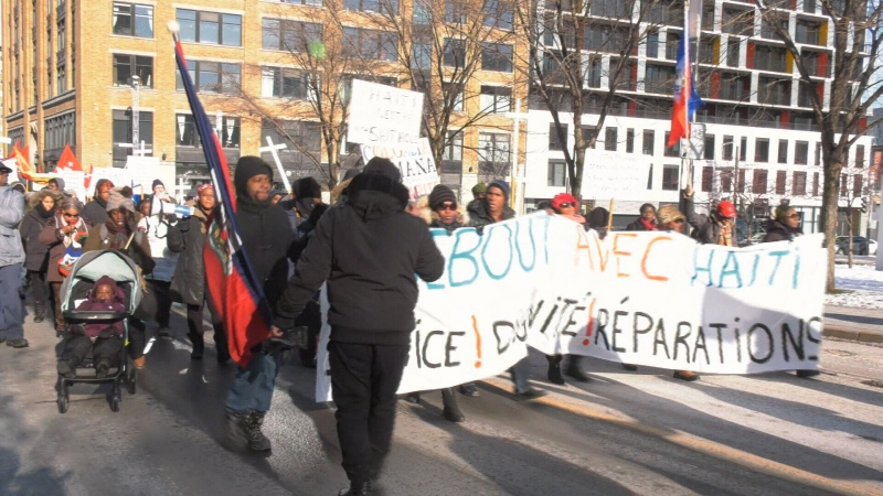Haiti demonstration montreal