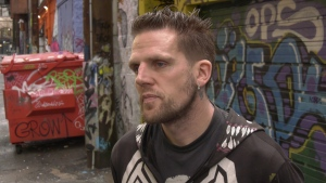"Trey Helten, a manager at Vancouver's Overdose Prevention Society, says one particular strain of ""bad dope"" has been causing problems for around six months. (CTV)"