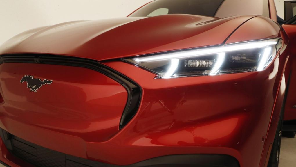 Ford Mustang Mach-E SUV headlights