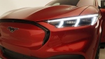 The front headlights of the new Ford Mustang Mach-E SUV. (Carlos Osorio / AP)