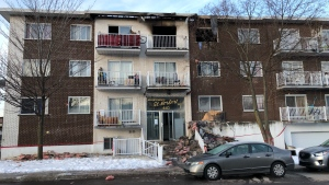 The aftermath of a three-alarm fire at 62nd Ave. and Cartier Blvd. O. in the Chomedey district of Laval. (Photo: Jean-Luc Boulch/CTV News Montreal)