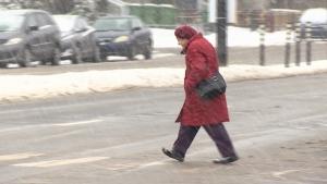Montreal pedestrian crossing lights