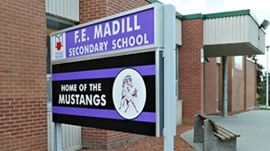 F.E. Madill Secondary School is seen in Wingham, Ont.