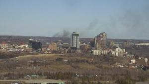 Fire in Edmonton on Nov. 18, 2019.