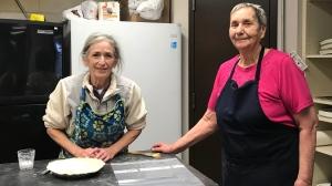 Theresa Currie, left, and Geri Trobak will be preparing fresh food for Saskatoon hockey fans. (Carla Shynkaruk/CTV Saskatoon)