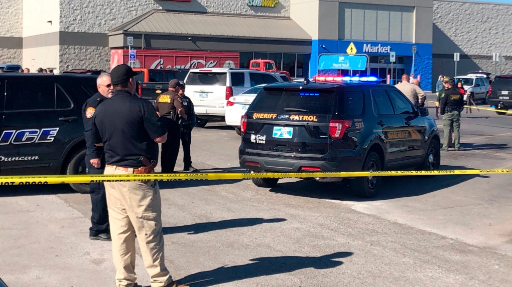 Law enforcement work the scene