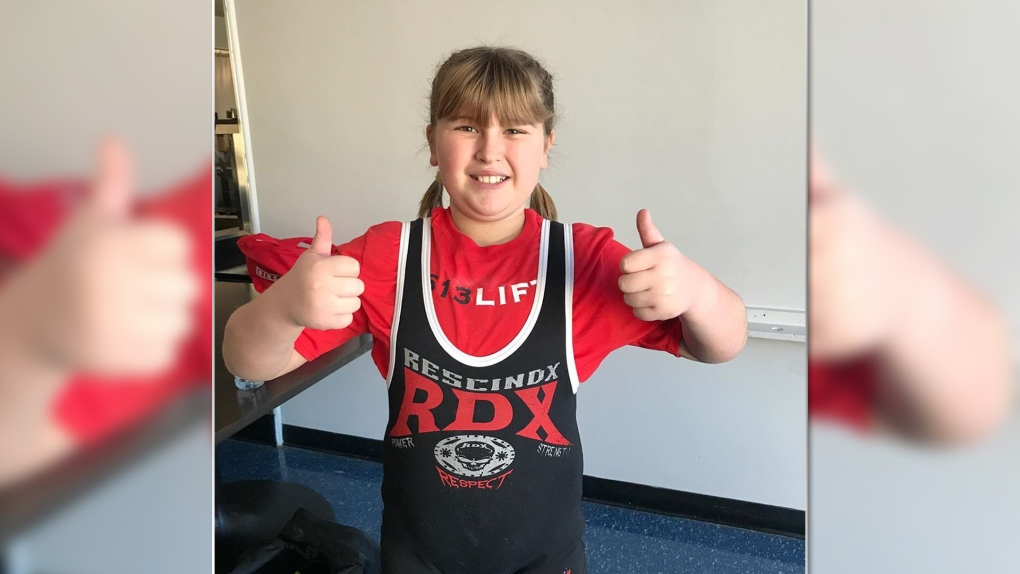 She's lifting her own weight. And then some! A ten-year old Ottawa girl is a world record holder
