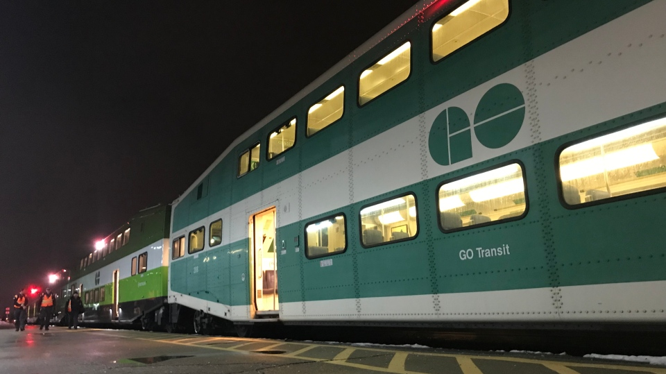 A GO Train seen here at the Kitchener station on Nov. 11, 2019. (Dan Lauckner / CTV Kitchener)