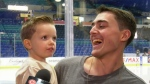 Saskatoon boy meets hockey heroes