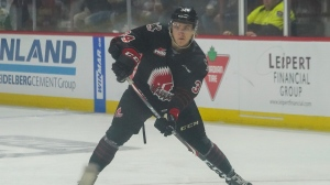 The Regina Pats acquired Regina product Carson Denomie on Monday. (Marc Smith/CTV News)
