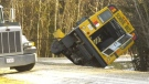 School bus hits ditch, prompting policy questions