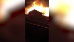 A garage caught fire in northwest Calgary Monday night