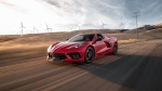 The new Chevrolet Corvette is just as good as far more expensive European sports cars, MotorTrend said. (MotorTrend/CNN)