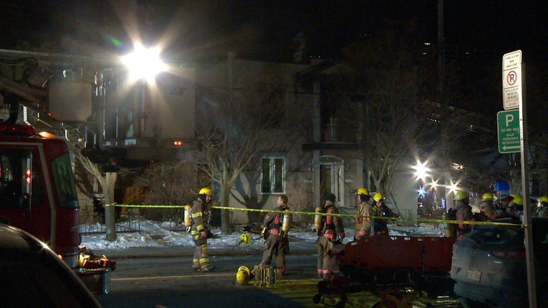 Montreal police are investigating after firefighters stumbled across a marijuana grow operation while responding to a fire in LaSalle.