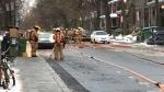 Montreal firefighters are onsite after a water main break in Montreal's NDG neighbourhood.