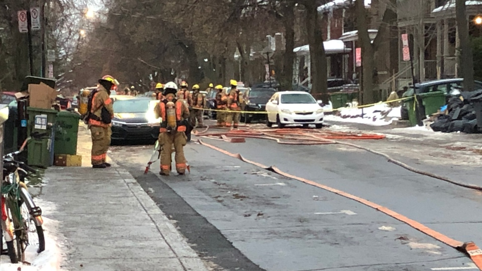 Water main break, gas leak in NDG