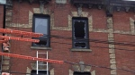 A fire broke out at a Queen Street West building on Nov. 19, 2019. (CTV News Toronto)