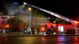 Multiple residents had to be rescued from a fire at a Vancouver apartment complex Tuesday morning.