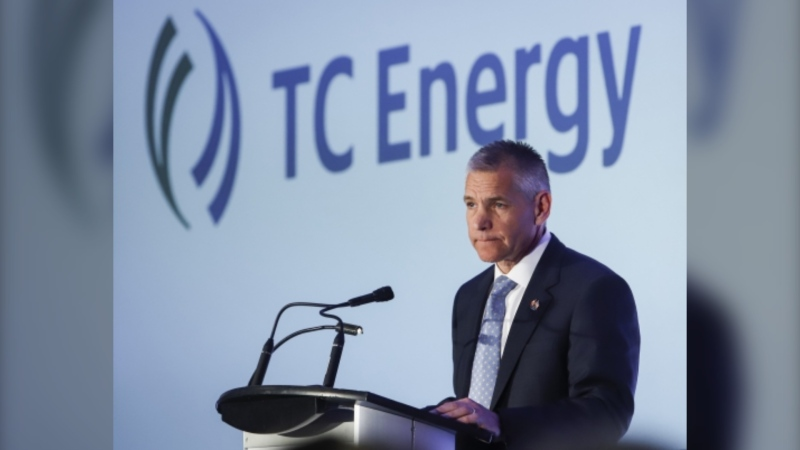 TC Energy CEO Russ Girling addresses the company's annual meeting after shareholders approved a name change to TC Energy in Calgary, Friday, May 3, 2019. THE CANADIAN PRESS/Jeff McIntosh