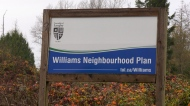 Williams Neighbourhood Plan sign in Langley.