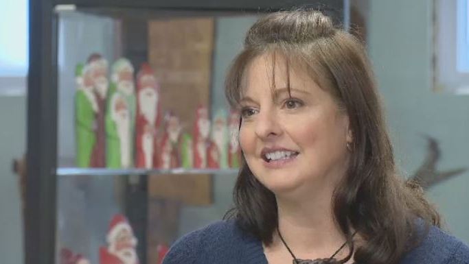 N.S. woodcarver thrilled after Hallmark movie features her signature Santas