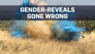 Gender-reveal stunt