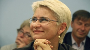 This 2012 photo provided by Juozas Valiušaitis shows Neringa Venckiene in Lithuania. Venckiene, a former Lithuanian judge and parliamentarian who was jailed in Chicago at her homeland's request told AP she feared death if she was extradited because she helped expose a network of influential pedophiles in the country. She was recently extradited anyway, and was released on bail Tuesday. (photo courtesy Juozas Valiušaitis via AP)